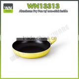 New product non-stick aluminium flat frying pan forged marble pan with soft touch handle
