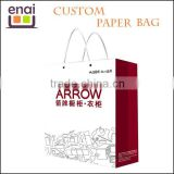 Different sizes slogan paper bag with handle for business advertisement