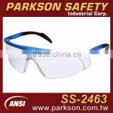 Taiwan Blue Frame Adjustable Leg Side Shield Industrial Safety Spectacle with ANSI Z87.1 Standard SS-2463