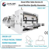 Full Production Line Soft Facial Tissue Paper Carton Box Making Machine