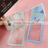 New gift idea PVC magnifier bookmark printing your name cards                                                                         Quality Choice