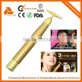 SKB-1201 skin care beauty product 24k gold beauty bar facial massager                                                                                                         Supplier's Choice