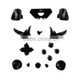 Solid Black Controller Buttons Joystick Controller Replacement Mod Kit Parts for Xbox One Controller