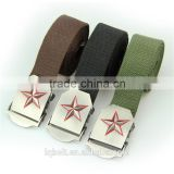 Fabric Belts jeans in stock Canvas belt woven Weaving nylon Plate buckles Men's belt wholesale 100%Factory fashion