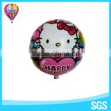 2016 round shape decoration mylar balloon with hello kitty foil and different colors for party and wedding stage favors