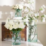 Hot sell Christmas new glass flower vase painting designs
