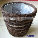 Birch Bark Basket Flower Pot
