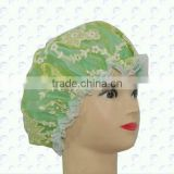 lace Pvc shower bath cap