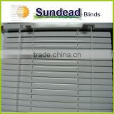 metallic silver 25mm aluminum venetian blinds at competitive price for interior decoration