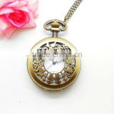 Newest pocket watch jewelry with girl engraved