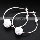Fashion shamballa earring basketball wives earrings /hoop earring