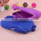 Soft Silicone Rubber Money Coins Keychain Cellphone Smartphone Storage Pouch Bag