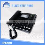wireless 4 line ip phone with WIFI/voip server