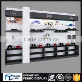 Custom wall mount shopping metal wood shoes shelf commercial shoe rack for display                                                                         Quality Choice