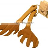 new design kitchen utensil kitchen cooking tools hot sales bamboo salad hands salad servers