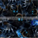 New;y skull pattern hydrographic Water Transfer cubic printing film hydro dipping film RHZ32