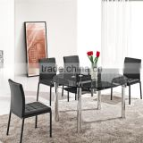 L801A Extendable Dining Table China Round Glass Dining Table And Chairs
