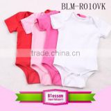 Hot sale boutique baby clothes Summer baby kids cotton short sleeve blank baby romper                                                                                                         Supplier's Choice