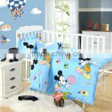 made in china 100% cotton comfortable cute cartoon printed baby crib bedding set
