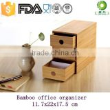 Bamboo wooden office deskt drawer organizer