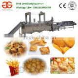 Industrial Automatic Continuous Fried Broasted Chicken Fry Machine