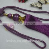 cheapest purple curtain ball tassel fringe,curtain tiebacks tassel
