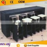 All-weather Outdoor Furniture Hand Woven Long-lasting Bar Counter Used Bar Rattan High Chair