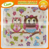 Cute Cartoon Owl For Kids Food Dish Plate Bread Fruit Holder Salad Snack Tray Melamine