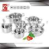 12 pcs gas colorful flower cookware set CYTG-10-4
