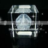 Customized Crystal Cube Gift With Laser Brain For Collections