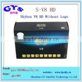 S-v8 digital sat receiver S-v8 hd decoder support WEBTV Biss Key 2x USB Slot USB Wifi 3G Youtube Youporn CCCAMD NEWCAMD