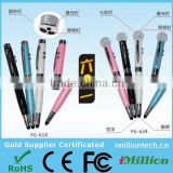 2015 new design 5 in 1 ball pen and touch screen stylus with led light & laser&USB drive