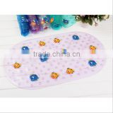 Baby Bath Tub Mat Anti Slip Suction Cups / bathroom floor non slip silicone mat / anti slip baby bath mat