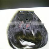 Wholesale new stock 100 natural human hair bangs / 7A brazilian human hair fringe / 10 inch clip-in natural hair bangs