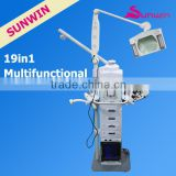 SW-19M 2014 Hot Selling 19 in 1 Diamond Microdermabrasion Multifunctional Face Massager Machine