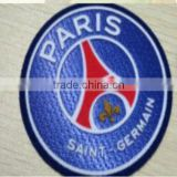 Paris patch/self-adhesive 3D flock transfer badges