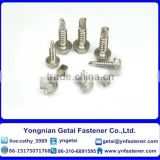 Self-drilling and tapping screws with collar ,Hexagon flange head , HDG /Galvanized with black /yellow zinc plated/blue white