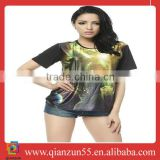 custom men women t-shirtd printing t-shirt iron man 3d printing t-shirt heat transfer t-shirts