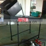 Mini portable gold sluice box with mobile trommel washing plant