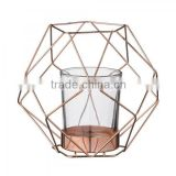 Wire Candle Holder/ New Design Candle Holder/ Copper Candle Holder/Votive, Graphic Copper Metal,