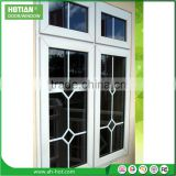 Pvc top hung windows cheap pvc sliding window with grill design french casement window