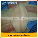 New arrival vacuum pack fresh belly off tilapia fillet frozen fish