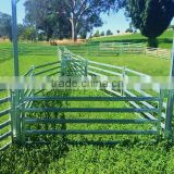 Hot dipped galvanized 40*80mm oval tube,1.8*2.1m cattle fence panel,6 bars sheep panel used corral panel direct Wholesale/Manufa