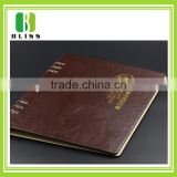Hotel Restaurant Supplies custom logo leather Menu cover with binding