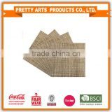 BSCI Factory Audit 4P Tweed woven placemat for wholesale