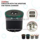 wholesale 2100mA aperture dual mini micro usb wall charger Black +Orange aperture for iphone samsung htc blackberry