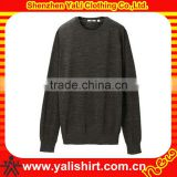Custom new fashion comfort cheap casual soft cotton thick men plain crew neck sweaters 2013