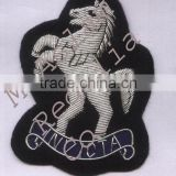 Hand Embroidery Badge Bullion Wire Horse Badge