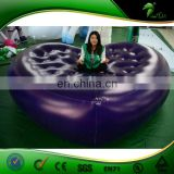 Giant Purple Inflatable Heart Shaped Floating Bed Lazy Sofa Custom Air Bed Inflatable Mattress PVC Balloons