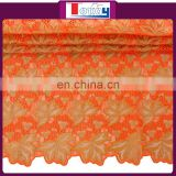 2016 Elegant Super Thin Swiss double Organza Fabrics Lace